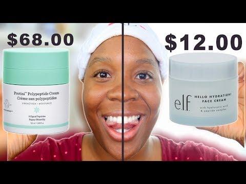 Drunk Elephant Protini Polypeptide Cream vs. Elf Hello Hydration Face Cream! Skincare Dupes