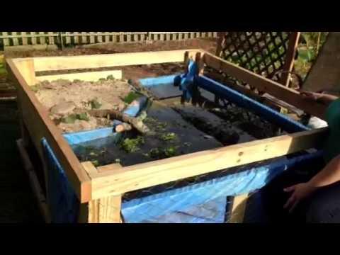 New Backyard Turtle Pond - New Backyard Turtle Pond - YouTube
