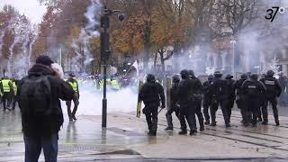 Affrontements entre forces de l'ordre et Gilets jaunes à Tours, le 1er décembre