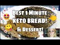 FAST KETO BREAD 😍 STUPID EASY Version - Ready In 1-ish Minute! Doubles as Dessert! 👌 🍰 Delicious!