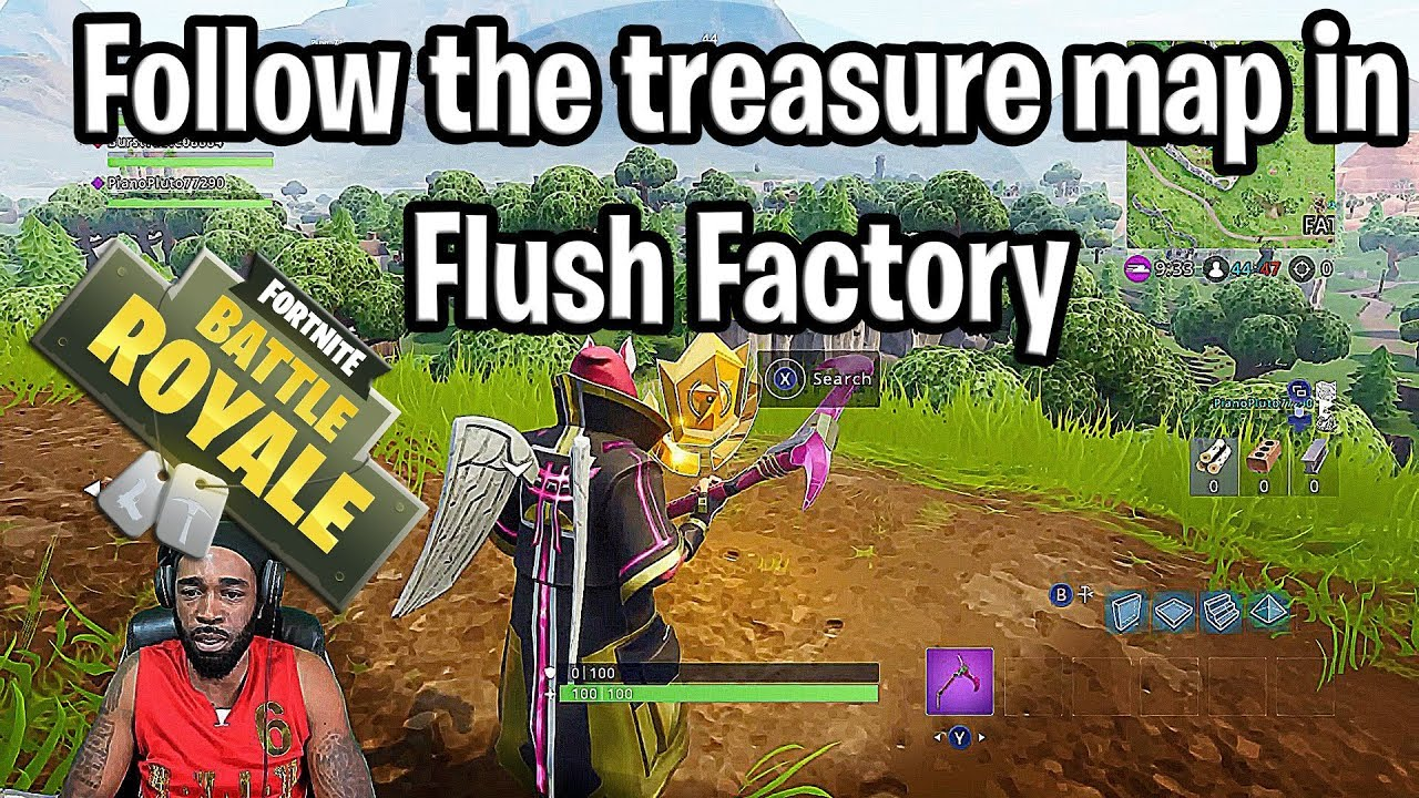 treasure map flush factory