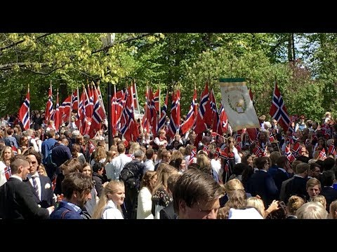 The Norwegians celebrating their 2018 national day in grand style