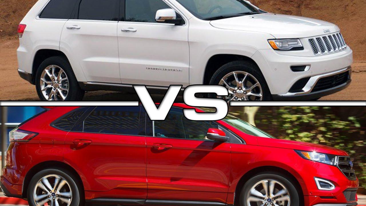 2016 Hyundai Santa Fe >> 2016 Jeep Grand Cherokee vs 2016 Ford Edge - YouTube