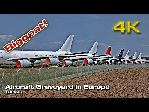 Biggest Aircraft Graveyard [4K] in Europe (Tarbes)