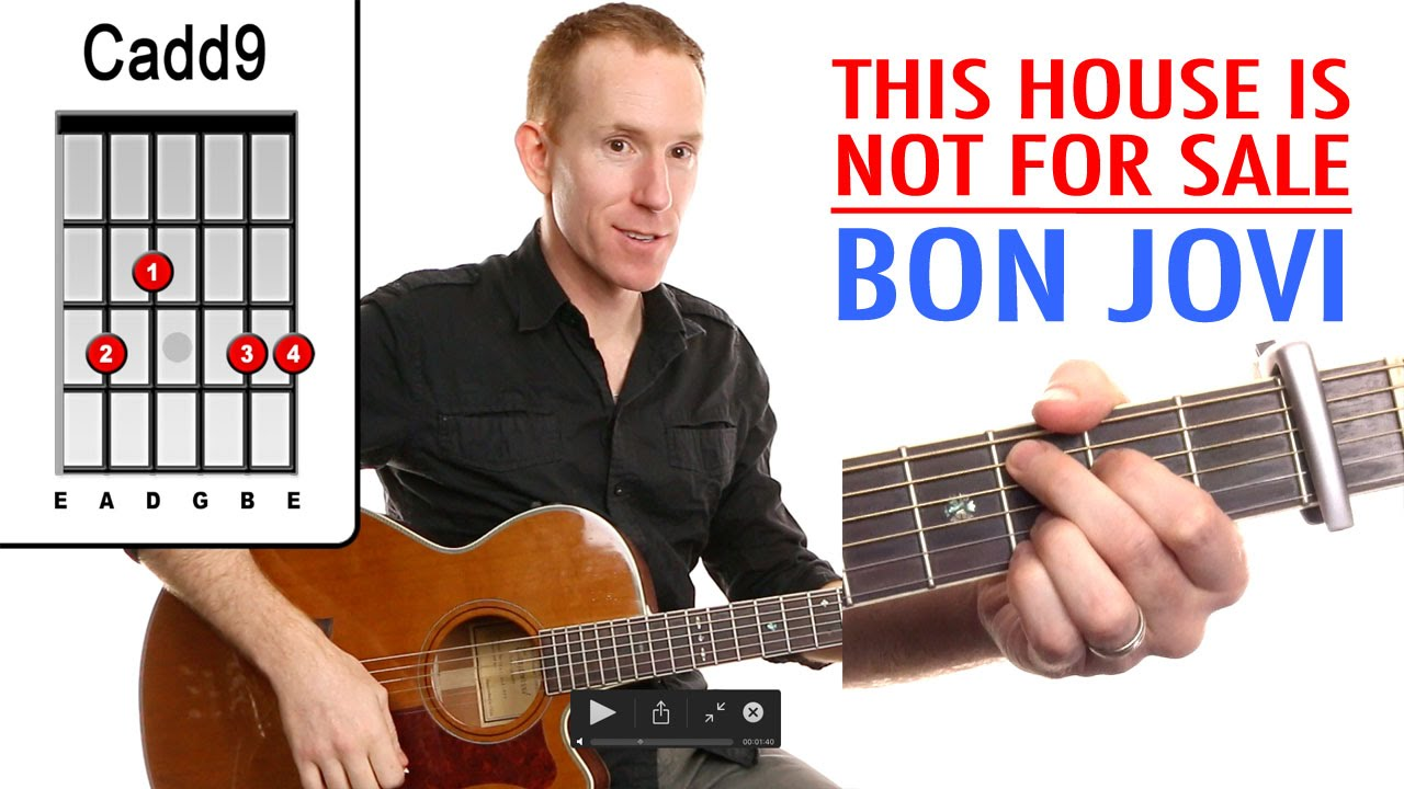 This House Is Not For Sale Bon Jovi Guitar Lesson How To