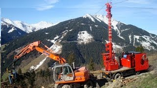 Logging in the Alps with a Mountain Harvester, Tower Yarder, Processor
