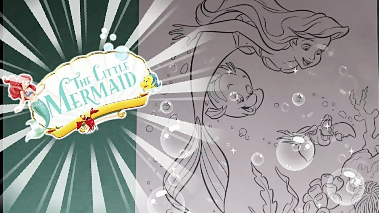 The Little Mermaid Coloring Pages Flounder, Sebastian and ...