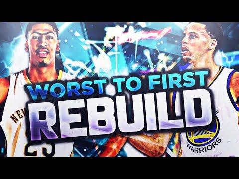 WORST 2 FIRST REBUILDING CHALLENGE!! NBA 2K18