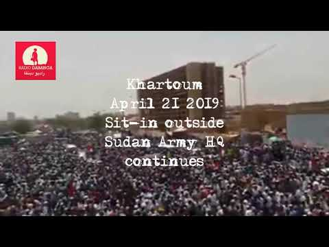 Khartoum sit in 21 04 2019 RD compilation
