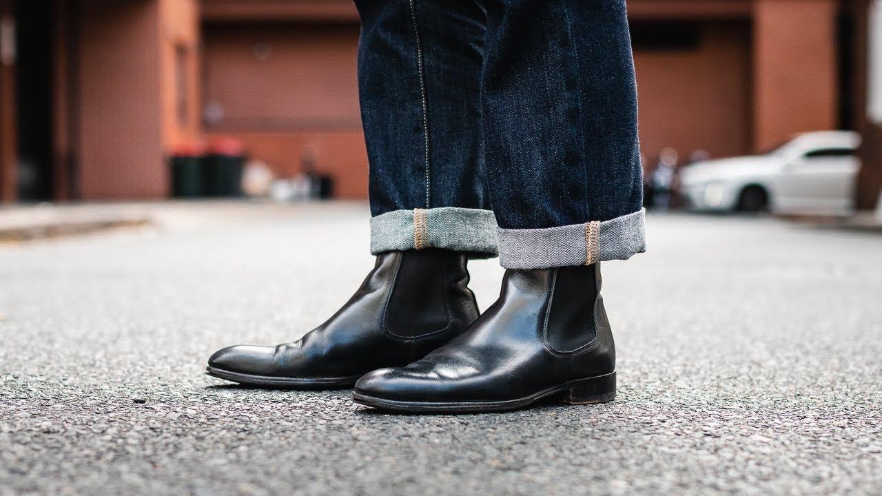 mens black dress chelsea boots