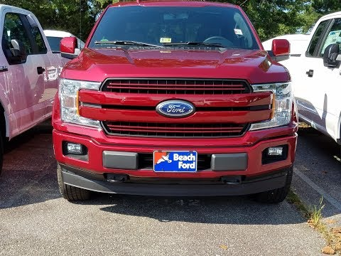First look at a 2018 Ford f-150 lariat in Ruby Red