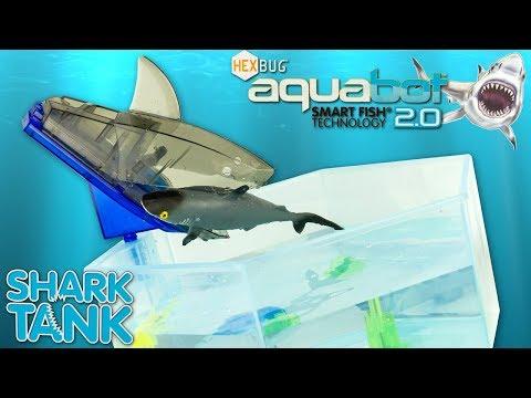 Jouet Requin Hexbug Aquabot Shark Tank Aquarium Robot Poisson Toy Review Tiburon