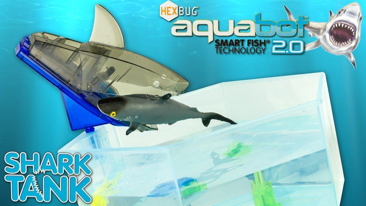 Jouet requin hexbug aquabot shark tank aquarium robot for Jouet aquarium poisson