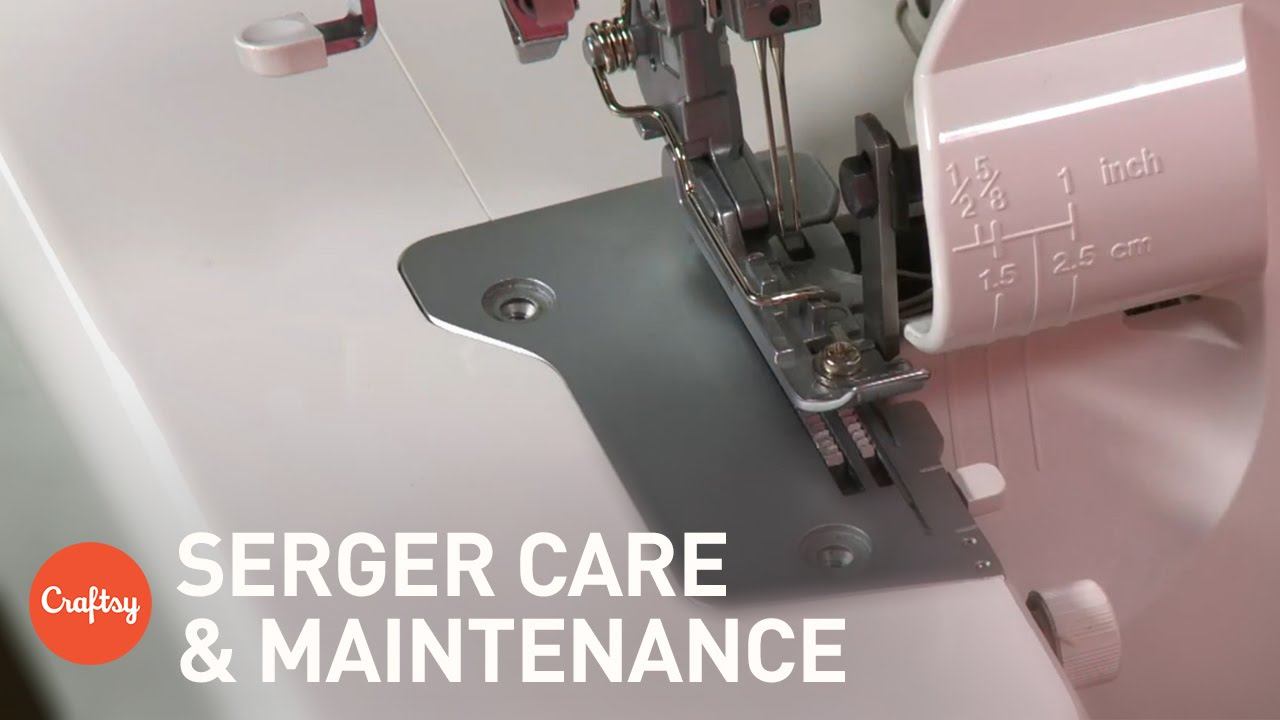 Serger Care Maintenance Cleaning Oiling More Sewing Tutorial