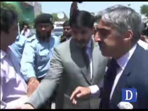 Lawyer Khawer Qureshi media talk and violence outside SC