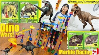 Battle of DINOSAURS Marble Racing Elimination Tournament! Toy Channel, Kids
