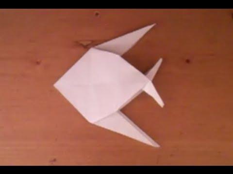 faire un poisson en origami poisson en papier youtube. Black Bedroom Furniture Sets. Home Design Ideas