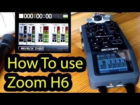 Zoom H6 / H5 Tips and tricks and HOW TO USE part 2