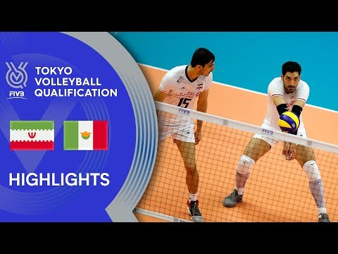 IRAN vs. MEXICO - Highlights Men | Volleyball Olympic Qualification 2019