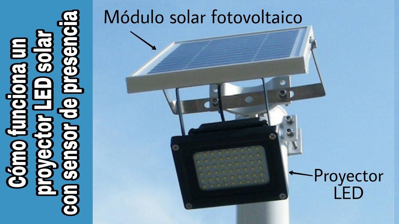 C mo funciona un foco led solar con detector de presencia - Focos led solares ...