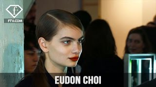 London Fashion Week Fall/WItner 2017-18 - Eudon Choi Make up | FTV.com