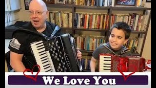 Joe De Clemente  Accordion & Grandson  Zach ~   Language of Love Telethon