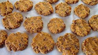 Постное печенье из морковного жмыха