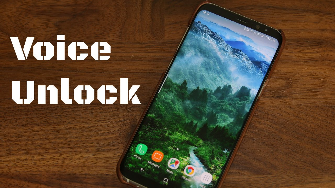 Unlock your Samsung Galaxy S8 using your Voice