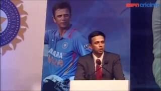 Rahul Dravid very emotional speech