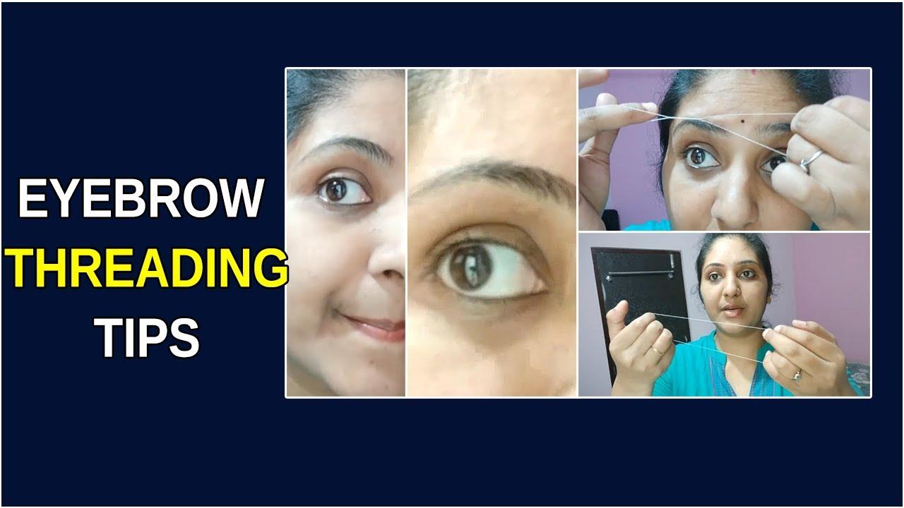 How To Do Self Eyebrow Threading At Home || Eyebrow ...