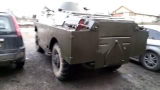 Звук русского двигателя V-8 5.5 БРДМ2, дефорсированный Чайка-13