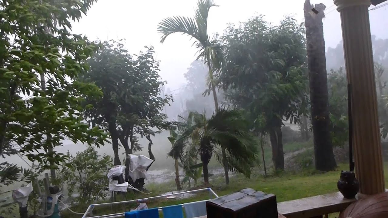 Tropical Rain Storm In Thailand At Our House Youtube