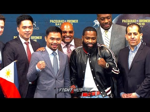 LIVE - MANNY PACQUIAO VS. ADRIEN BRONER - FULL NEW YORK KICKOFF PRESS CONFERENCE & FACE OFF VIDEO