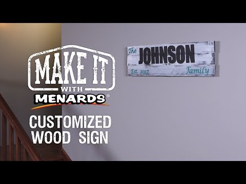 Wood Sign - Make It With Menar...