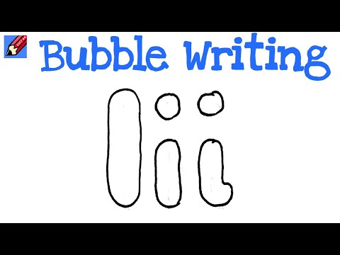 drawing bubble letters how to draw writing real easy letter i 21419 | hqdefault