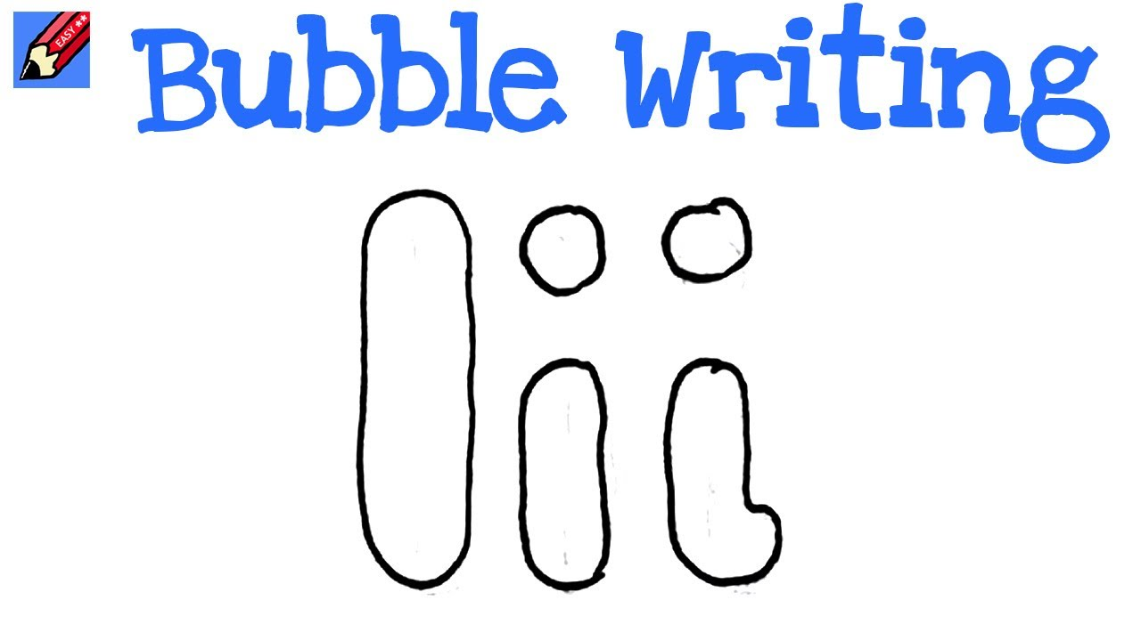 bubble letter draw writing easy