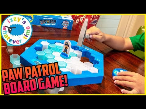 PAW PATROL BOARD GAME! Izzy's Toy Time SAVES Chase!