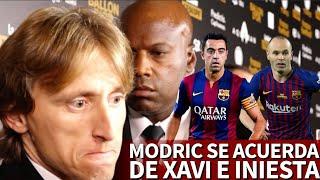 Modric dedicó su Balón de Oro a Xavi e Iniesta y dejó una frase que no gustará a Messi ni Cristiano