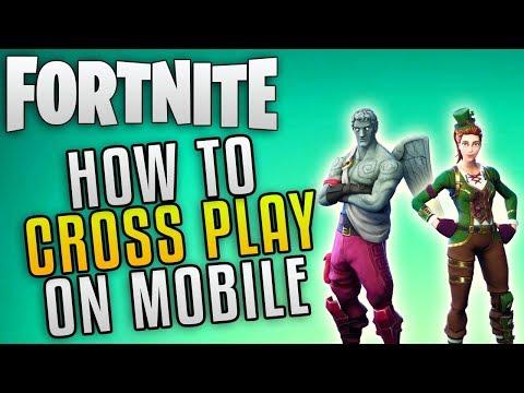 """Fortnite How To Cross Play """"Fortnite Mobile Crossplay Guide"""" Fortnite Battle Royale Cross Platform"""