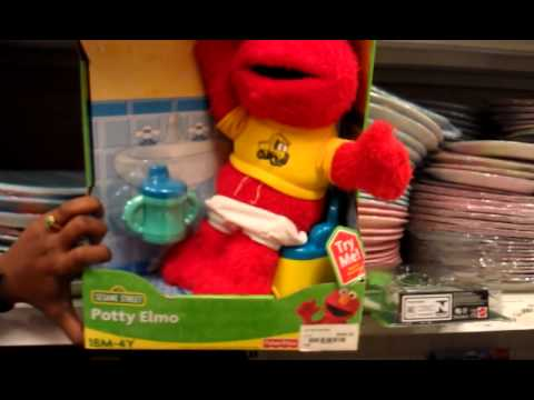 elmo potty doll