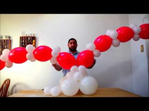 Heart balloon tutorial how to make a heart column for Balloon decoration ideas youtube