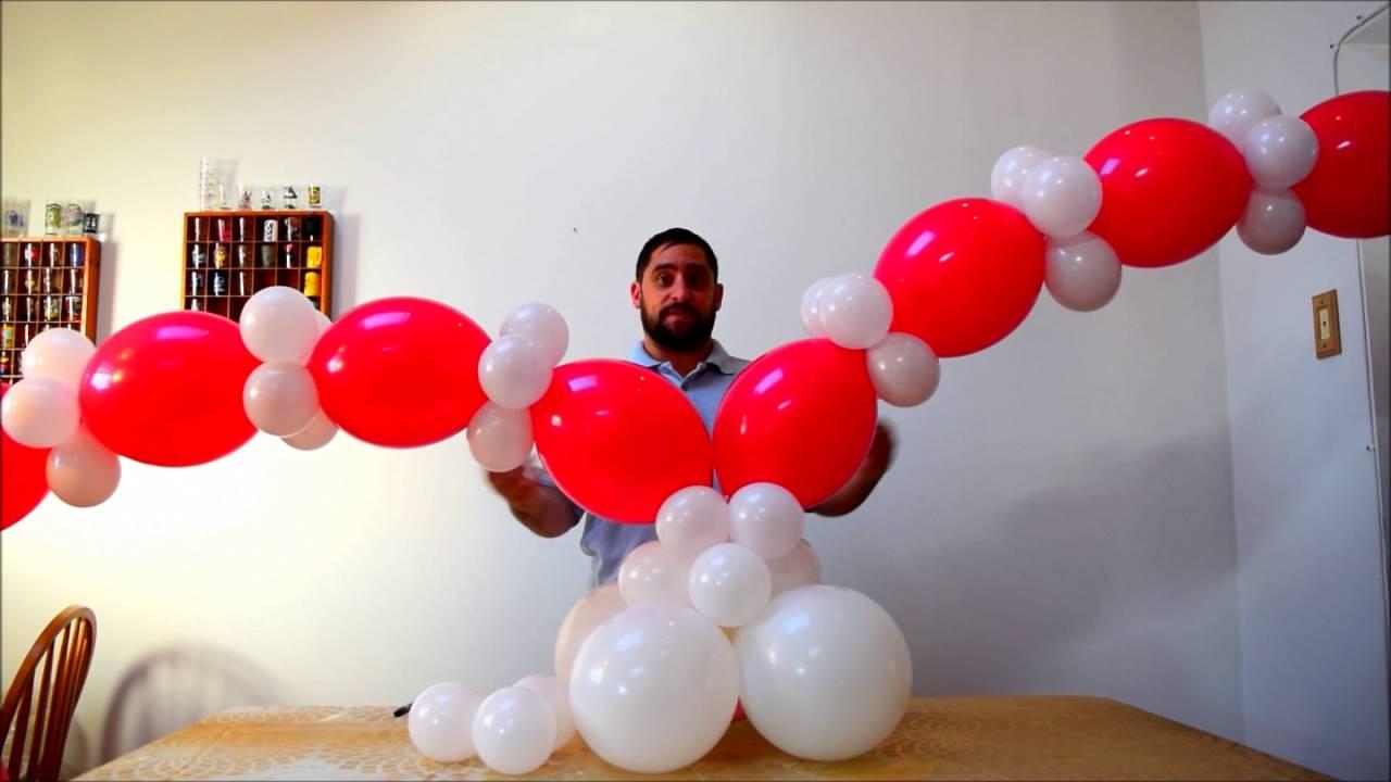 heart balloon tutorial how to make a heart column. Black Bedroom Furniture Sets. Home Design Ideas
