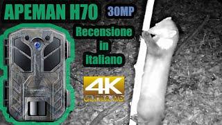 Recensione APEMAN H70 fototrappola 30MP in italiano