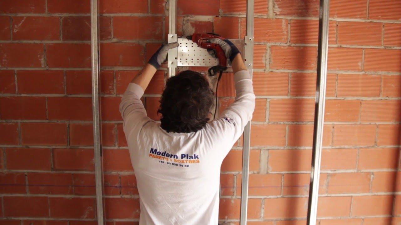 Sistema soporte para instalaciones pladur agua 2 7 youtube - Instalacion de pladur en paredes ...