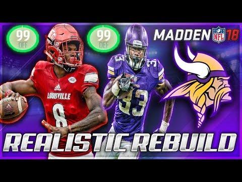 Rebuilding The Minnesota Vikings | Lamar Jackson Gives Vikings Double 99s! | Madden 18 Franchise