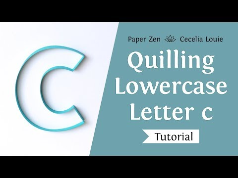Quilling Lowercase Letter c Alphabet Pattern Templates and Tutorial