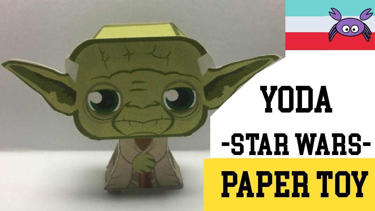 How To Make A Yoda STAR WARS Paper Toy Papercraft Free Template By Becks Junkie