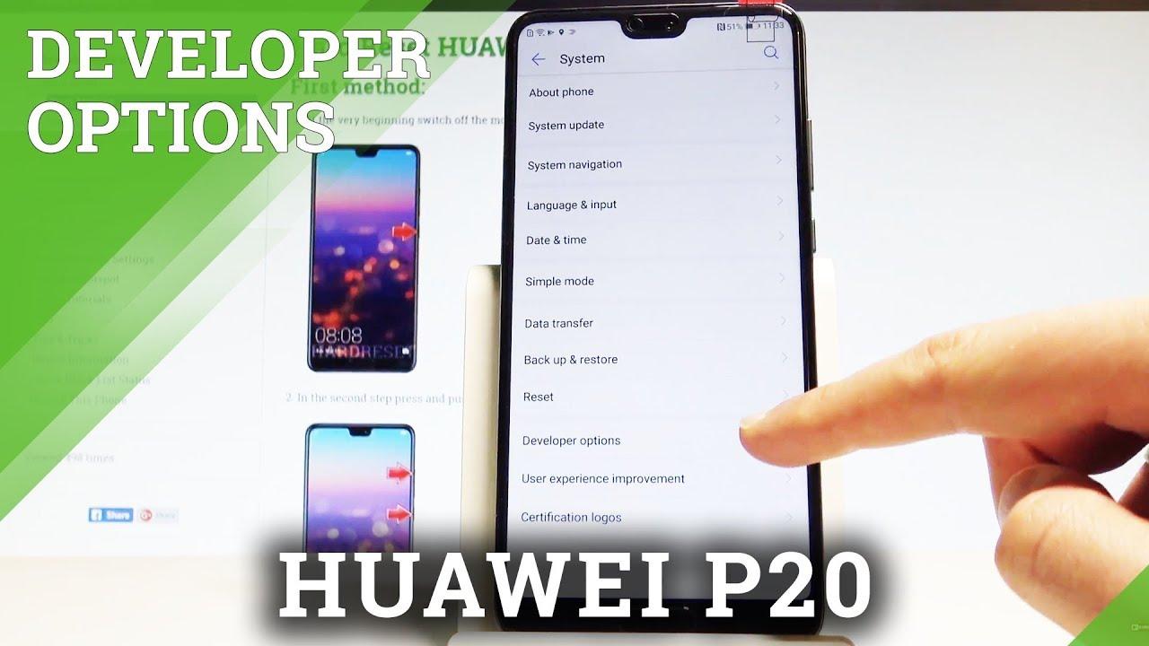How to Enable Developer Options in HUAWEI P20 - OEM Unlocking / USB  Debugging |HardReset Info