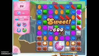 Candy Crush Level 1042 Audio Talkthrough, 2 Stars 0 Boosters
