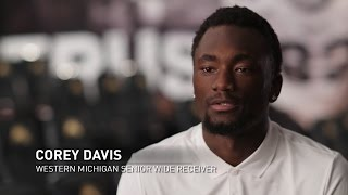 Despite facing a difficult childhood, Western Michigan's Corey Davis was able to create a great future for himself by becoming one of the most accomplished ...